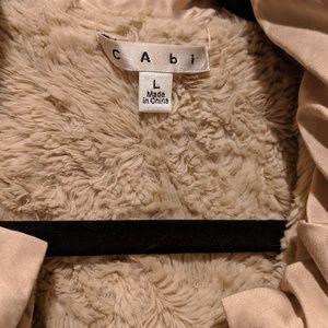 "CAbi Reversible Beige Fur Vest ""Snow bunny"""